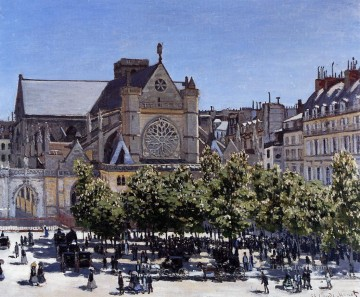 Claude Monet Painting - SaintGermainl Auxerrois Claude Monet